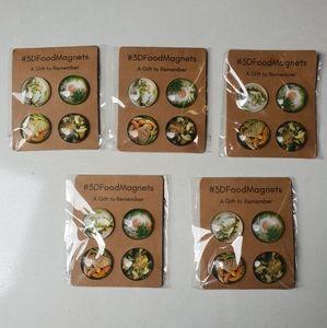 3d Fridge Food Magnets
